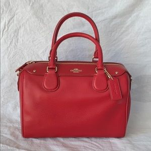 Coach mini crossover satchel red